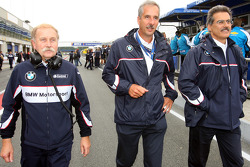 Friedhelm Nohl, BMW Motorsport with Dr. Klaus Draeger and Dr. Mario Theissen, BMW Sauber F1 Team, BMW Motorsport Director