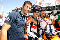 Mark Webber, Red Bull Racing, and Dani Pedrosa, Repsol Honda Team