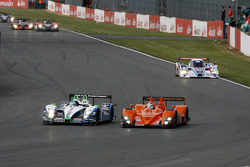 #16 Pescarolo Sport Pescarolo - Judd: Jean-Christophe Boullion, Christophe Tinseau, #5 Team LNT Ginetta-Zytek GZ09S: Lawrence Tomlinson, Nigel Mansell, Greg Mansell