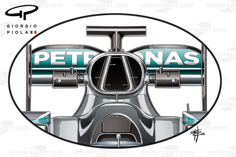 Boîte à air de la Mercedes W07