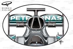 فتحة تهوية محرك سيارة مرسيدس