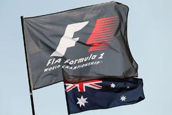 F1- und Australienflaggen