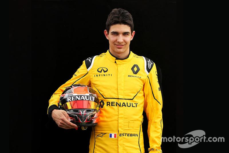 Esteban Ocon, Renault (martes) y Mercedes (miércoles)