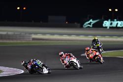 Jorge Lorenzo, Movistar Yamaha MotoGP, Yamaha; Andrea Dovizioso, Ducati Team, Ducati y Marc Márquez, Repsol Honda Team, Honda