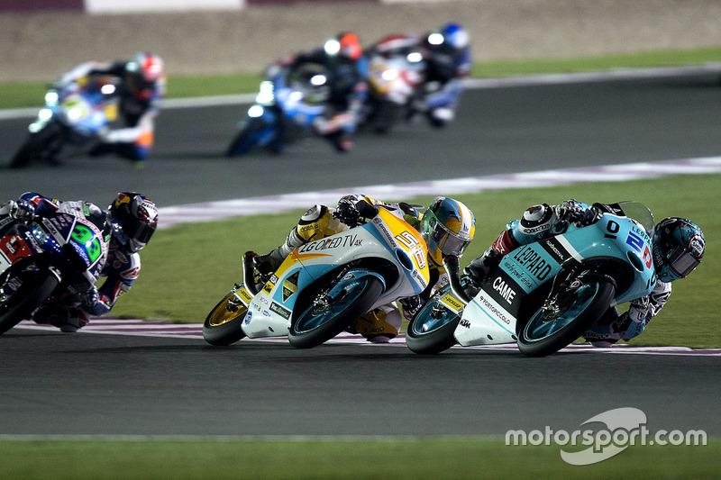Fabio Quartararo, Leopard Racing, KTM; Juanfran Guevara, RBA Racing Team, KTM
