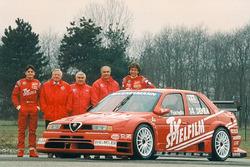 Презентация команды Alfa Corse TV Spielfilm с Кристианом Даннером и Джанкарло Физикеллой