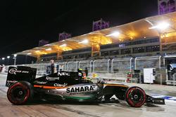 Sergio Perez, Sahara Force India F1 VJM09 leaves the pits