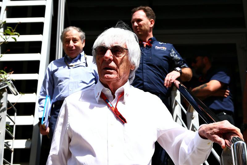 Bernie Ecclestone, Jean Todt, Presidente de la F1A y Christian Horner, Red Bull Racing Team