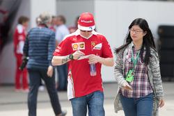 Kimi Raikkonen(Ferrari F1 team)and his fans