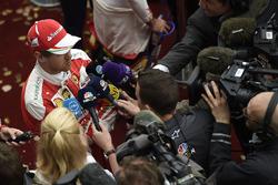 Sebastian Vettel, Ferrari with media