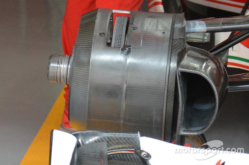 Detalle frontal Ferrari SF16-H