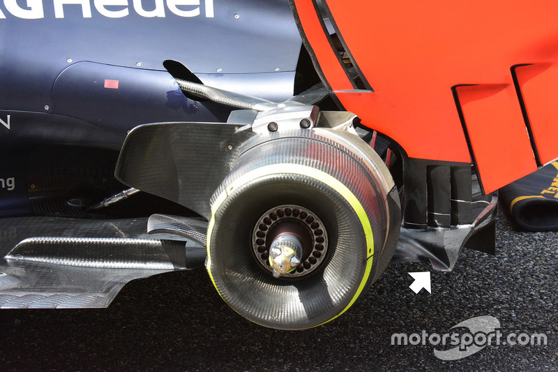 Detalle trasero de Red Bull Racing RB12