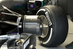 Détails de l'avant de la Mercedes AMG F1 Team W07