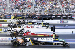 Tony Schumacher, Doug Kalitta, Chris Karamesines, Leah Pritchett