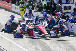 Takuma Sato, A.J. Foyt Enterprises Honda pit