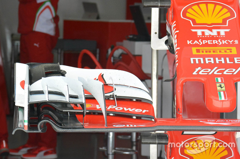 Ferrari SF16-H, la vecchia ala anteriore