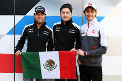 Mexican drivers: Sergio Perez, Sahara Force India F1; Alfonso Celis Jr., Sahara Force India F1 Development Driver and Esteban Gutierrez, Haas F1 Team
