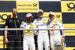 Podium: 2. Timo Glock, BMW Team RMG, BMW M4 DTM; 1. Paul Di Resta, Mercedes-AMG Team HWA, Mercedes-AMG C63 DTM; 3. Augusto Farfus, BMW Team MTEK, BMW M4 DTM