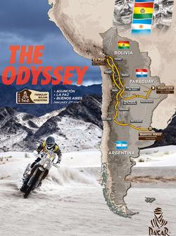Dakar 2017 haritası