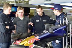 Richard Verschoor with Max Verstappen, Scuderia Toro Rosso