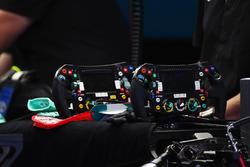 Mercedes AMG F1 W07 Hybrid, Lenkrad von Nico Rosberg, Mercedes AMG F1