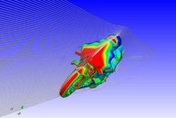 Ducati Team CFD rendering of winglet