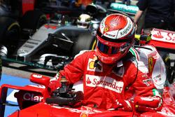 Kimi Raikkonen, Ferrari SF16-H nel parco chiuso