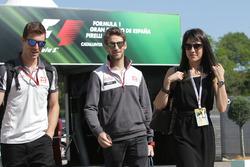 Romain Grosjean, Haas F1 Team ve eşi Marion Jolles Grosjean