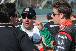 Tony Kanaan, Marco Andretti, and Michael Andretti