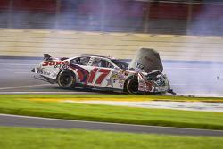 Ricky Stenhouse Jr. crashes