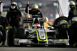 Rubens Barrichello em pit stop em Abu Dhabi 2009