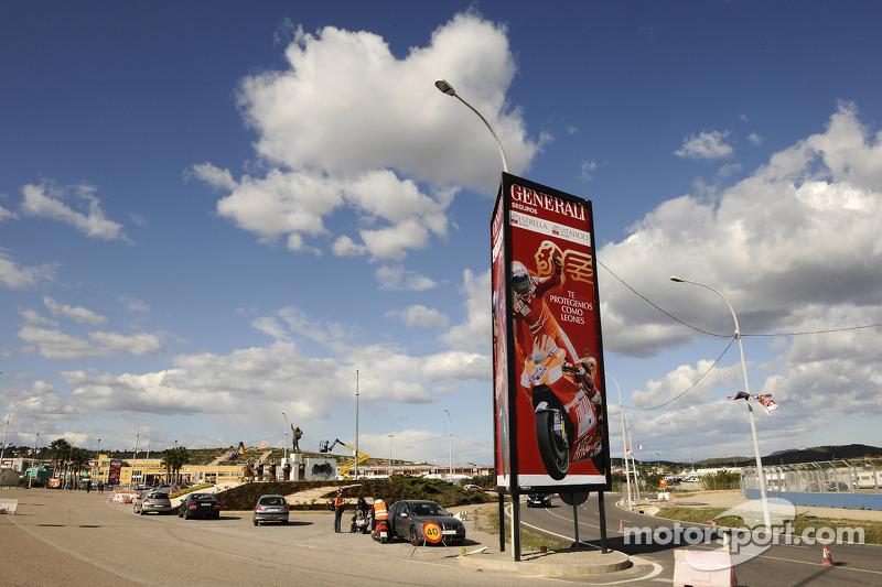 Entrada del circuito de Valencia