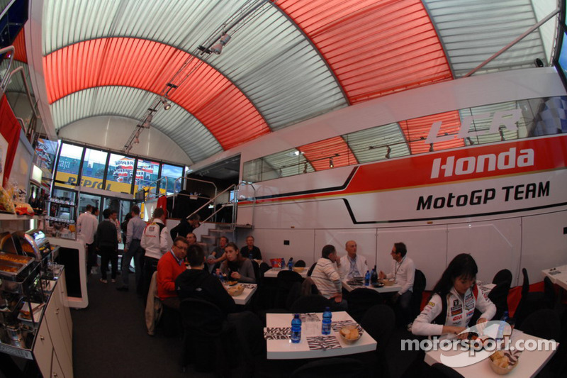 LCR Honda MotoGP Team paddock