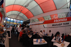 LCR Honda MotoGP Team paddock area