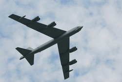 Pre-race B52 fly-over
