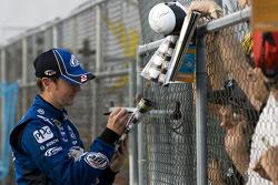 Kurt Busch, Penske Racing Dodge signs autographs