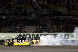 Ron Hornaday celebrates the Camping World Truck Championship