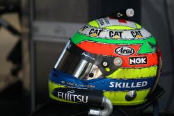 Helmet of Jason Bright