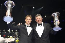 Jenson Button und Ross Brawn, Brawn GP