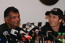 Jarno Trulli with Tony Fernandez