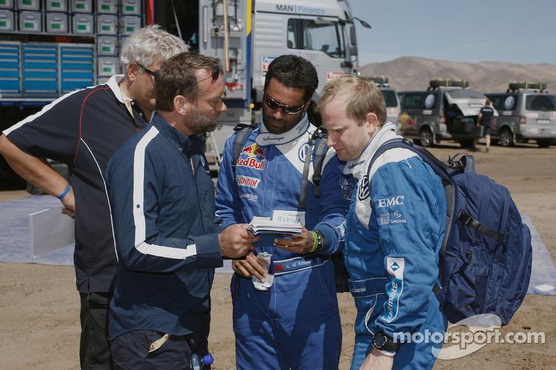 Peter Utoft, Kris Nissen, Nasser Al Attiyah y Timo Gottschalk