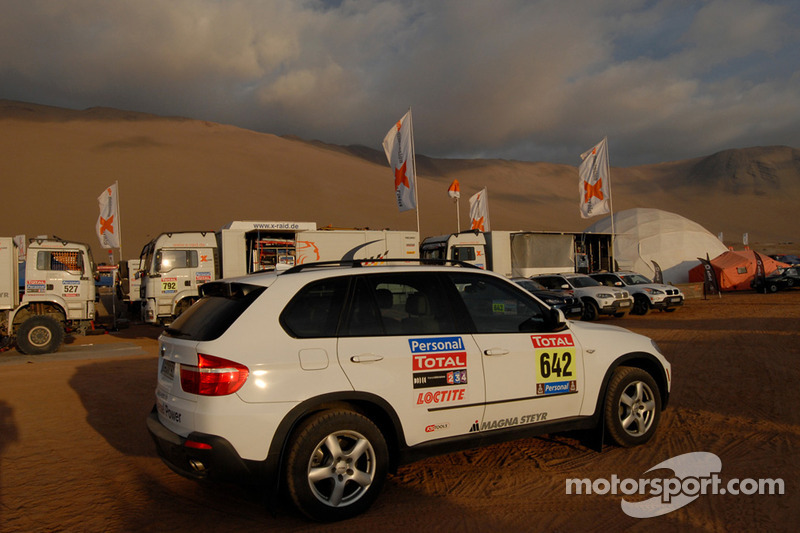 Véhicule d'assistance de l'équipe X-Raid BMW