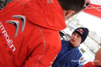 Prueba de Kimi Raikkonen en el Citroën C4 de WRC