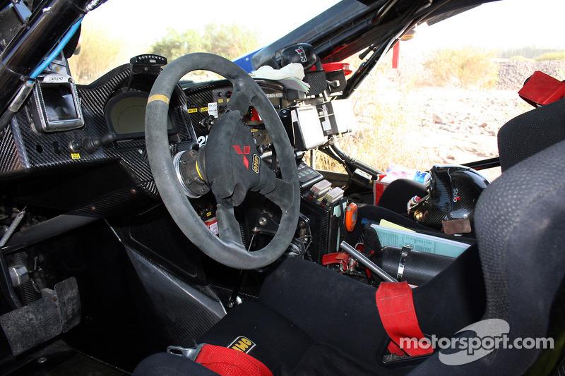 L'intérieur d'une Mitsubishi