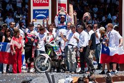 Motofiets podium: derde plaats voor Francisco Lopez Contardo