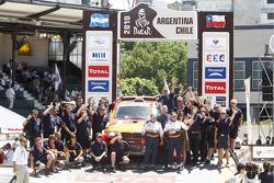 Auto's podium: 11th place Leonid Novitskiy en Andreas Schulz