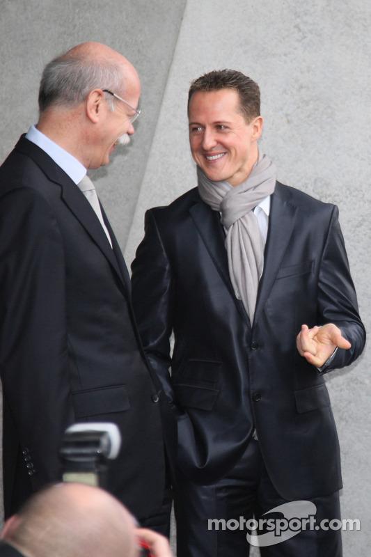 Michael Schumacher et le Dr Dieter Zetsch