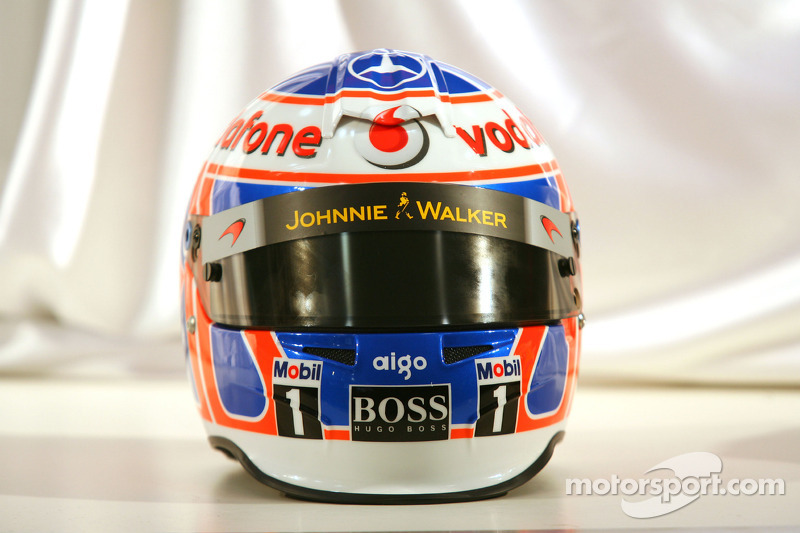 Casque de Jenson Button, McLaren Mercedes