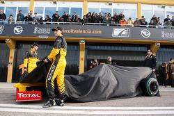 Vitaly Petrov, Robert Kubica, Eric Boullier und der Renault R30