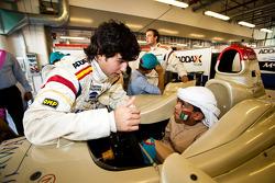 Sergio Perez meets local Children visiting the GP2 Paddock